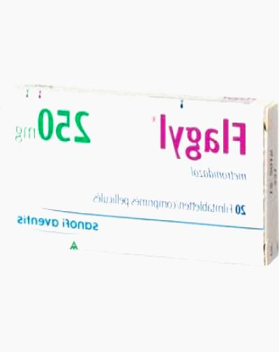 Flagyl (metronidazole) 200 mg 60 amount in a package